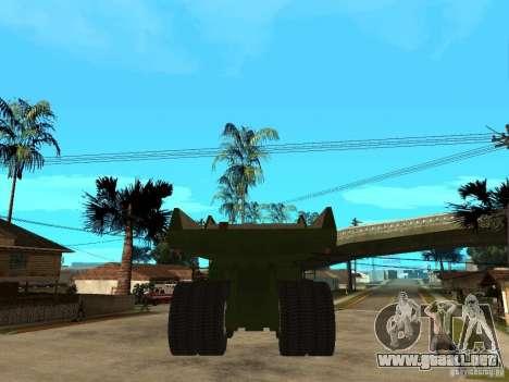 Belaz para GTA San Andreas vista posterior izquierda