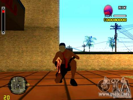 Hombre piel playa para GTA San Andreas quinta pantalla