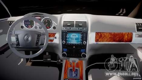 Volkswagen Touareg 2008 TDI para GTA 4 vista hacia atrás