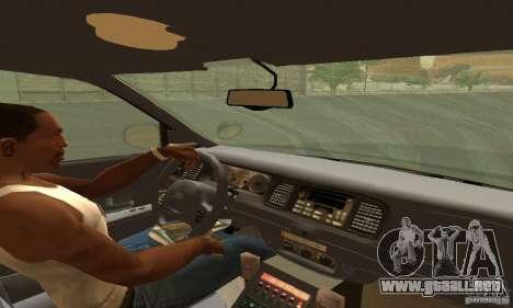 Ford Crown Victoria Tennessee Police para GTA San Andreas vista posterior izquierda