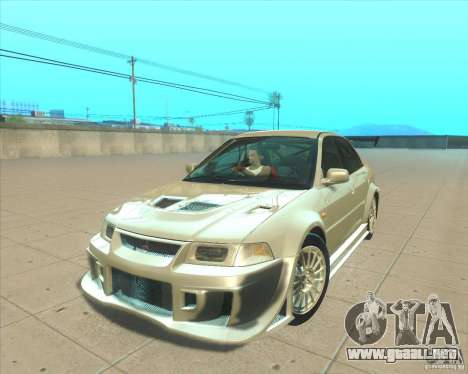 Mitsubishi Lancer Evolution VI 1999 Tunable para visión interna GTA San Andreas