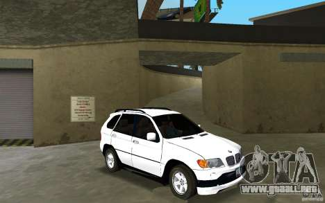 BMW X5 para GTA Vice City vista posterior