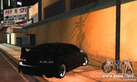 Honda Civic JDM para visión interna GTA San Andreas
