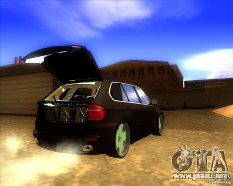 BMW X5 dubstore para visión interna GTA San Andreas