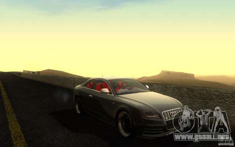 Audi S5 Black Edition para vista lateral GTA San Andreas