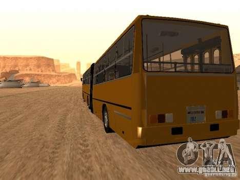 Remolque Ikarusu 280.33 para GTA San Andreas left