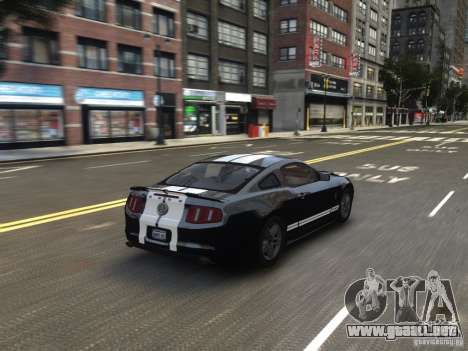 Ford Shelby GT500 2010 WIP para GTA 4 vista lateral