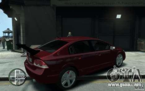 Honda Civic 2006 para GTA 4 visión correcta