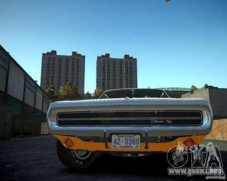 Dodge Charger Magnum 1970 para GTA 4 vista hacia atrás