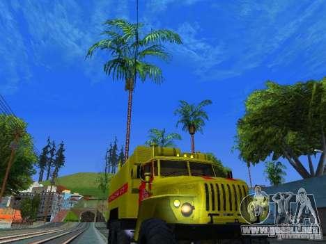Ural 4320 GORSVET para GTA San Andreas vista hacia atrás
