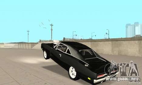 Dodge Charger RT 1970 The Fast & The Furious para visión interna GTA San Andreas