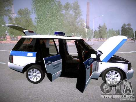 Range Rover Supercharged 2008 policía Departamen para vista inferior GTA San Andreas