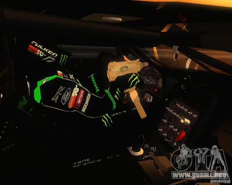 Chevrolet Corvette Drift para GTA San Andreas vista hacia atrás