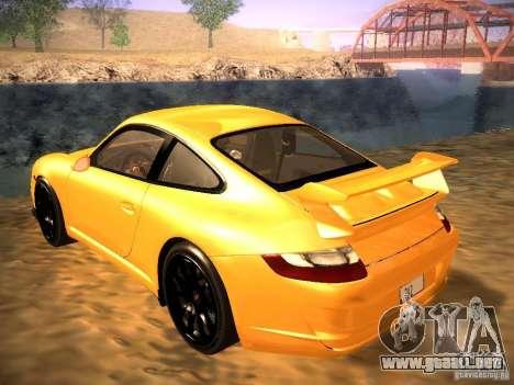 Porsche 911 para vista lateral GTA San Andreas
