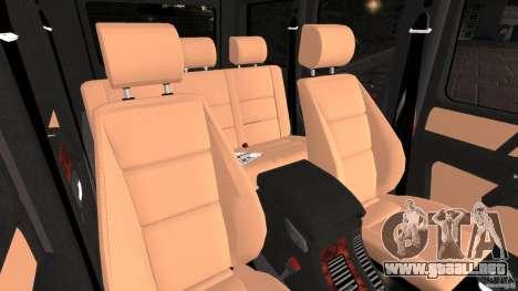 Mercedes-Benz G55 AMG para GTA 4 vista hacia atrás