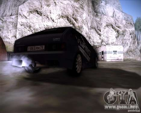 VAZ 2108 K-arte para GTA San Andreas vista posterior izquierda