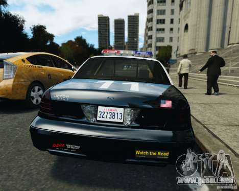 Ford Crown Victoria LAPD para GTA 4 vista interior