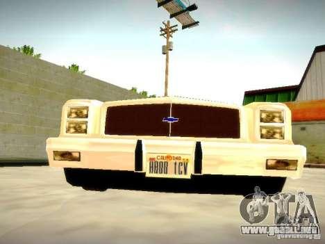 Chevrolet El Camino 1976 para GTA San Andreas vista hacia atrás