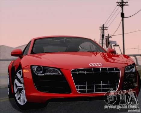 Audi R8 v10 2010 para vista lateral GTA San Andreas