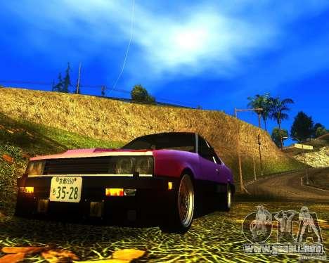 Nissan Skyline RS TURBO (R30) para GTA San Andreas vista posterior izquierda