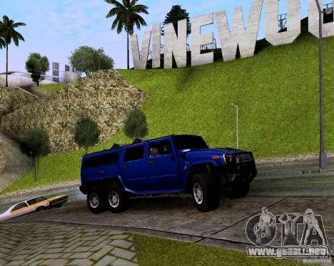 Hummer H6 para GTA San Andreas vista hacia atrás