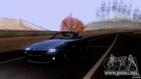 BMW Z4 V10 para la vista superior GTA San Andreas