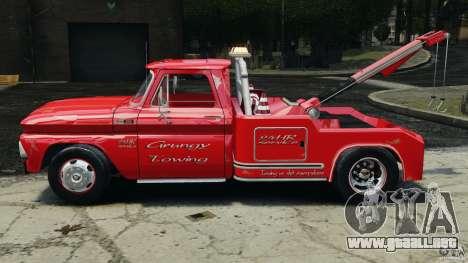 Chevrolet C20 Towtruck 1966 para GTA 4 left