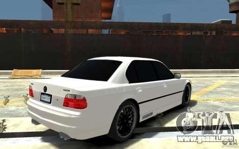 BMW 750i E38 HAMANN para GTA 4 visión correcta