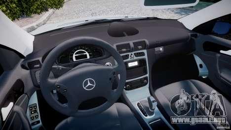 Mercedes-Benz C32 AMG 2004 para GTA 4 vista hacia atrás