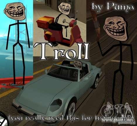 TrollFace skin para GTA San Andreas