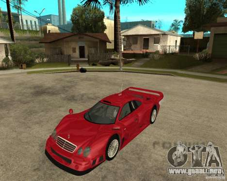 Mercedes-Benz CLK GTR road version para GTA San Andreas