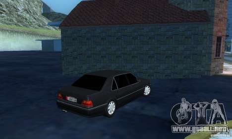Mercedes-Benz W140 S600 Long Deputat Style para la visión correcta GTA San Andreas