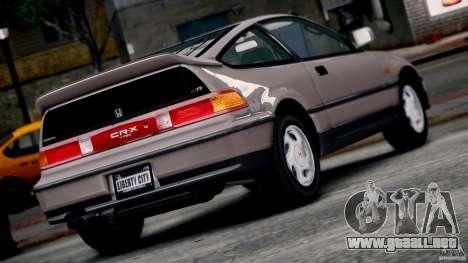 Honda CR-X SiR 1991 para GTA 4 left