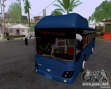 Daewoo Bus BAKU para GTA San Andreas vista posterior izquierda