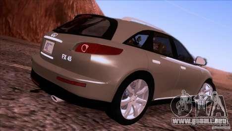 Infiniti FX45 2007 para GTA San Andreas left