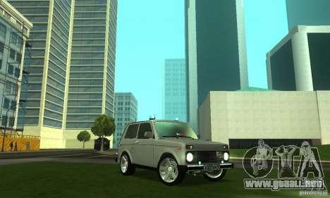 FBI NIVA VAZ 21213 para GTA San Andreas vista hacia atrás