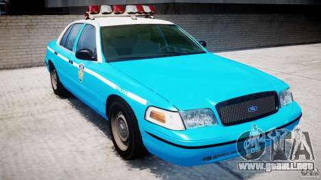 Ford Crown Victoria Classic Blue NYPD Scheme para GTA 4 left