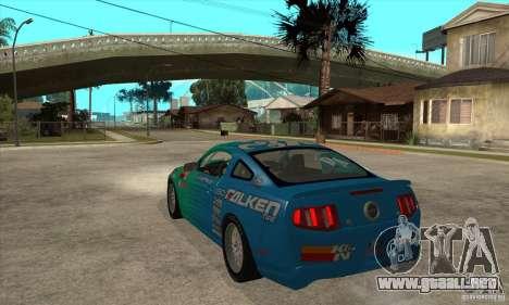 Ford Mustang GT Falken para GTA San Andreas vista posterior izquierda