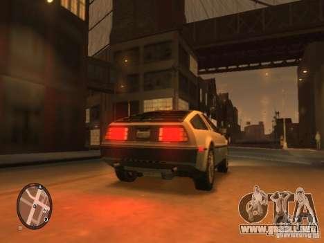 De Lorean DMC 12 para GTA 4 visión correcta