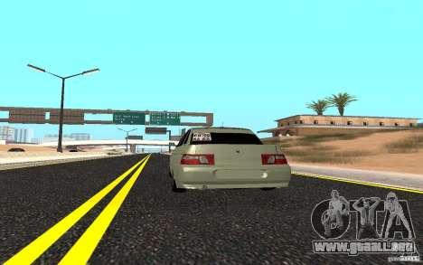 VAZ 2110 luz Tuning para GTA San Andreas vista posterior izquierda