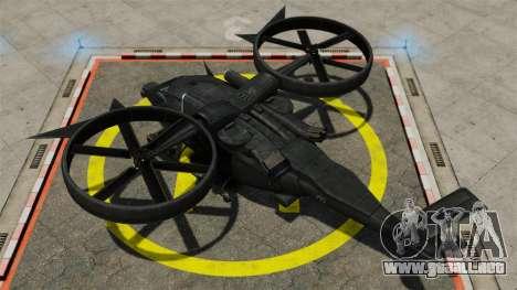 Helicóptero de transporte SA-2 Samson para GTA 4 visión correcta
