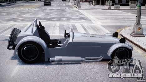 Caterham Super Seven para GTA 4 vista hacia atrás