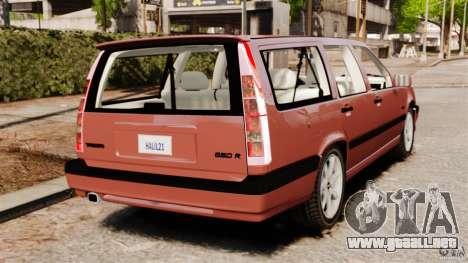 Volvo 850 Wagon 1997 para GTA 4 Vista posterior izquierda