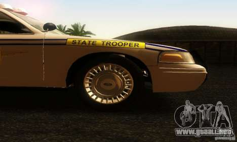 Ford Crown Victoria South Carolina Police para la visión correcta GTA San Andreas