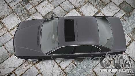 BMW 740i (E38) style 37 para GTA 4 vista superior