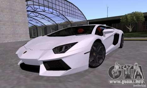 Lamborghini Aventador LP700-4 Final para visión interna GTA San Andreas
