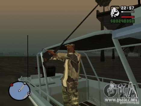 The present fishing mod V1 para GTA San Andreas