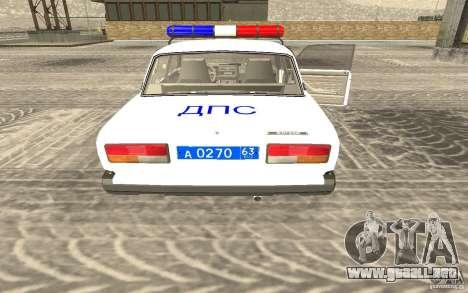 Coche de policía VAZ 2107 DPS para GTA San Andreas left