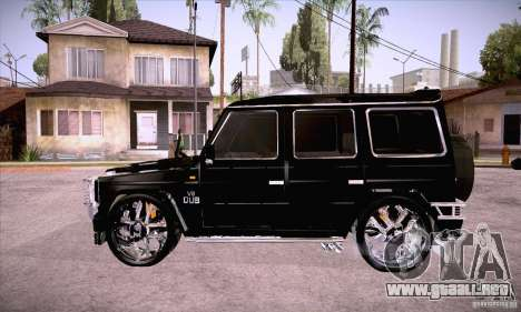 Mercedes-Benz Brabus G500 Dub Edition para GTA San Andreas left