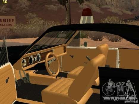 Chevrolet Opala Police para GTA San Andreas vista hacia atrás